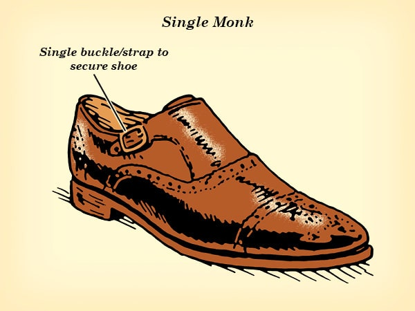 single monk strap dress shoe illustration