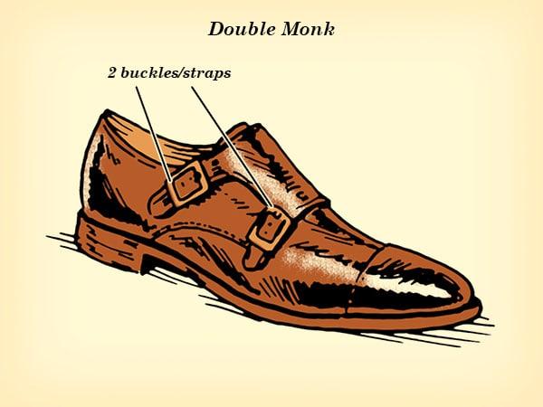 double monk strap dress shoe illustration