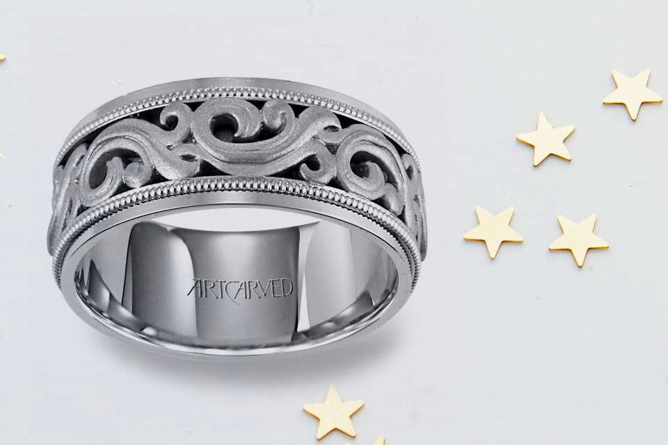 Chunky Men's Engagement Ring