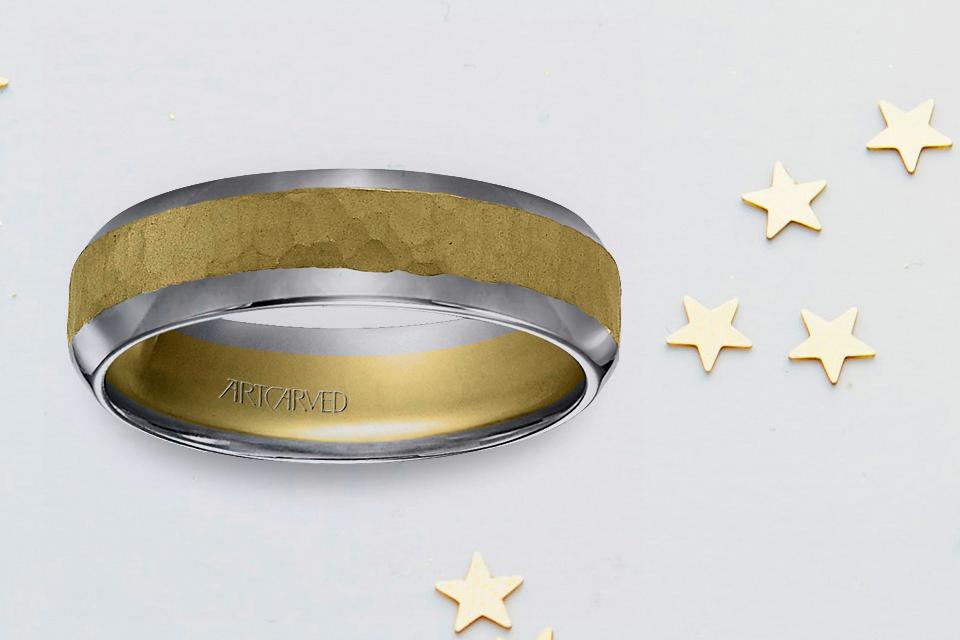 Dual-toned Men's Engagement Ring