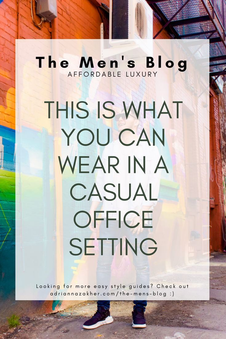 This is What You Can Wear in a Casual Office Setting - LLEGANCE ; This is What You Can Wear in a Casual Office Setting casual outfit ideas for men | casual looks for men | chill outfits for guys | work outfits for guys | what to wear to work | street style for work | casual street style for men | the men's blog